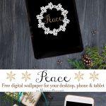 Peace Holiday Digital Wallpaper