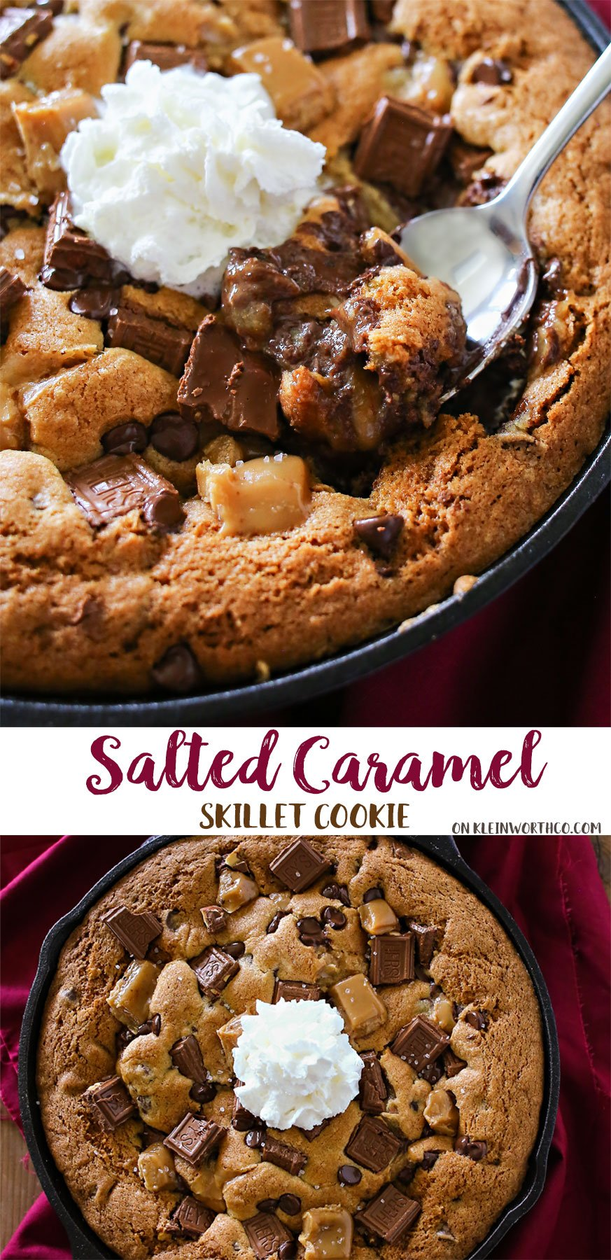 Salted Caramel Skillet Cookie