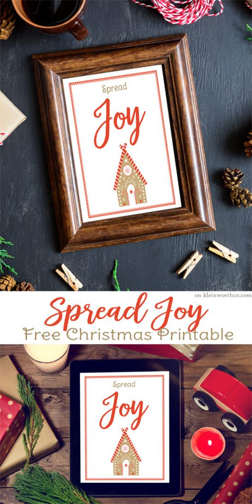 Spread Joy Free Christmas Printable