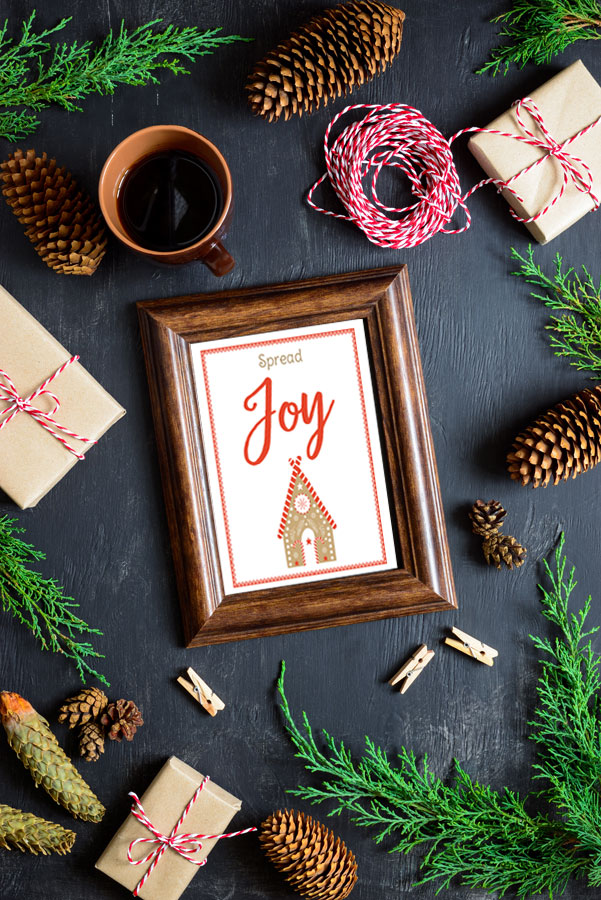 Spread Joy Free Christmas Printable