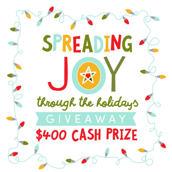 Spread Joy Free Christmas Printable & AWESOME $400 Giveaway