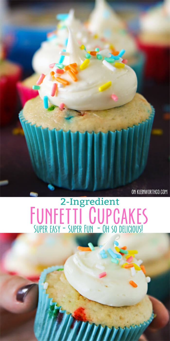 2-Ingredient Funfetti® Cupcakes