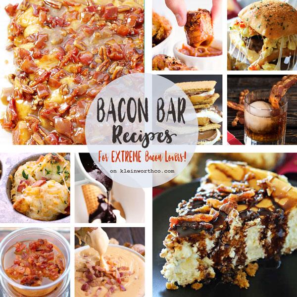 Bacon Bar Recipes + WIN Bacon for a YEAR!!