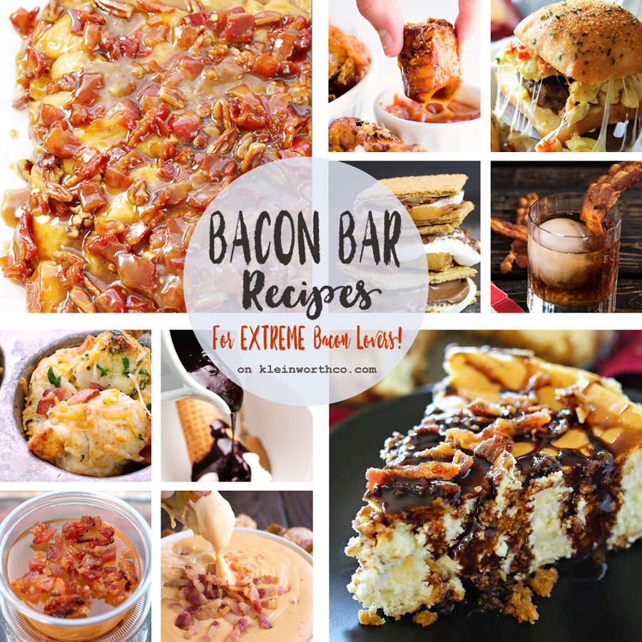 Bacon Bar Recipes + WIN Bacon for a YEAR!!