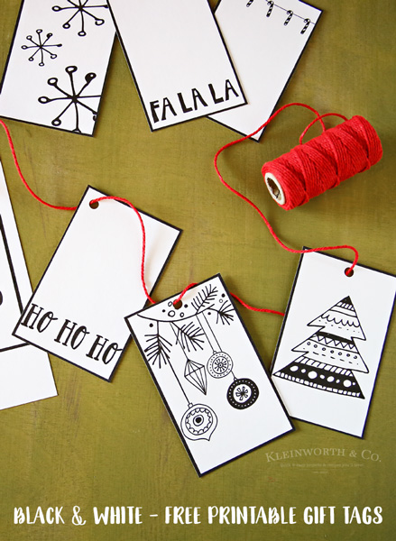 Black White Free Printable Gift Tags & Guy Gift Idea
