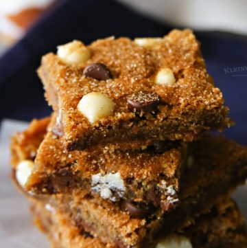 Chocolate Chip Snickerdoodle Bars