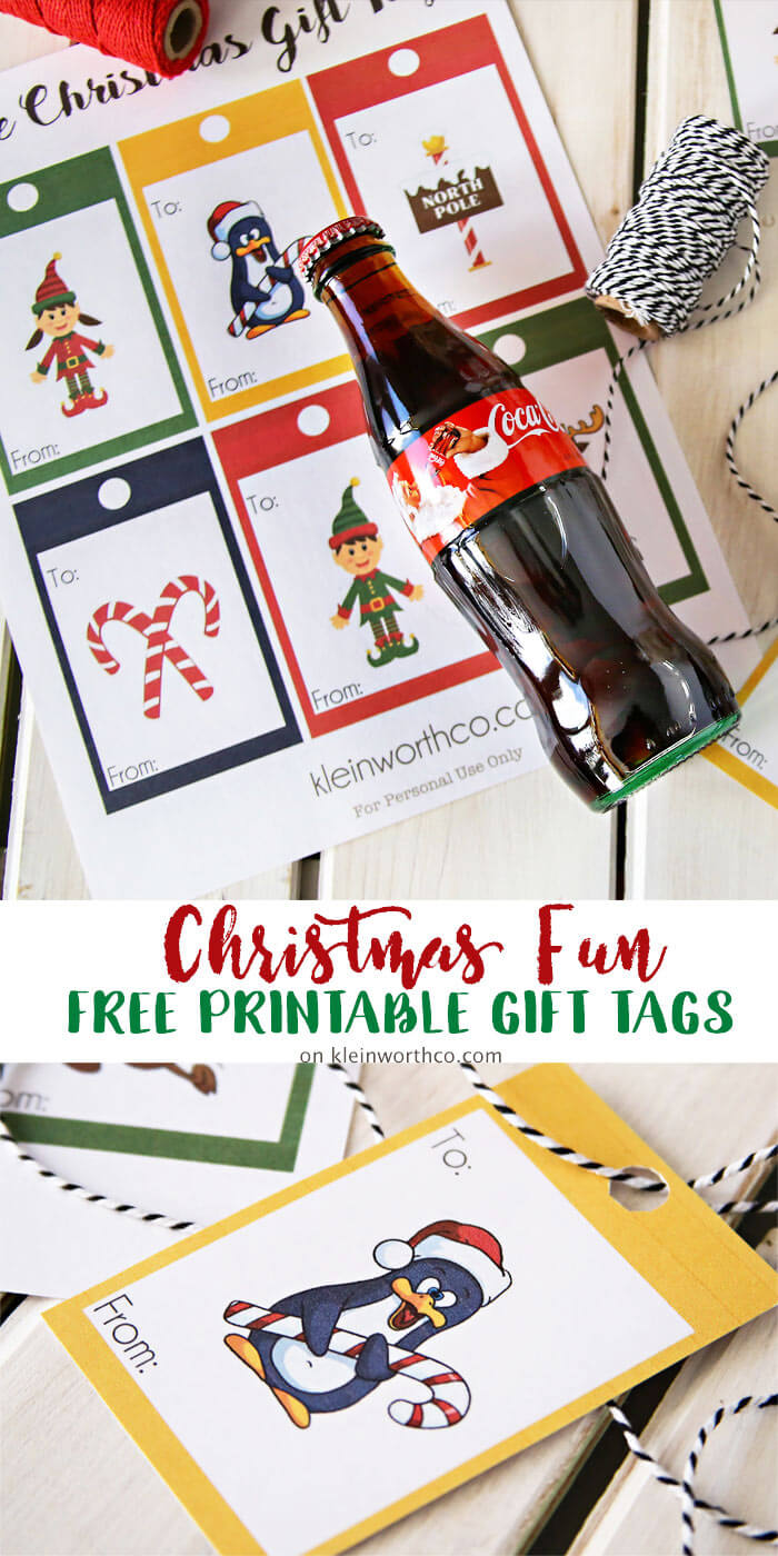 Coca-Cola Christmas Gift Idea + Printable Gift Tags