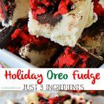 Holiday Oreo Fudge Recipe