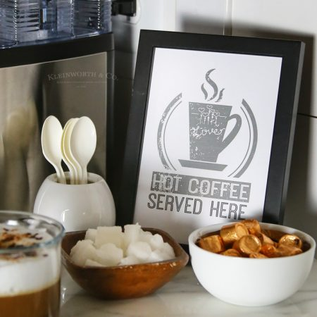 Hot Coffee Free Printable Coffee Station Sign + GIVEAWAY