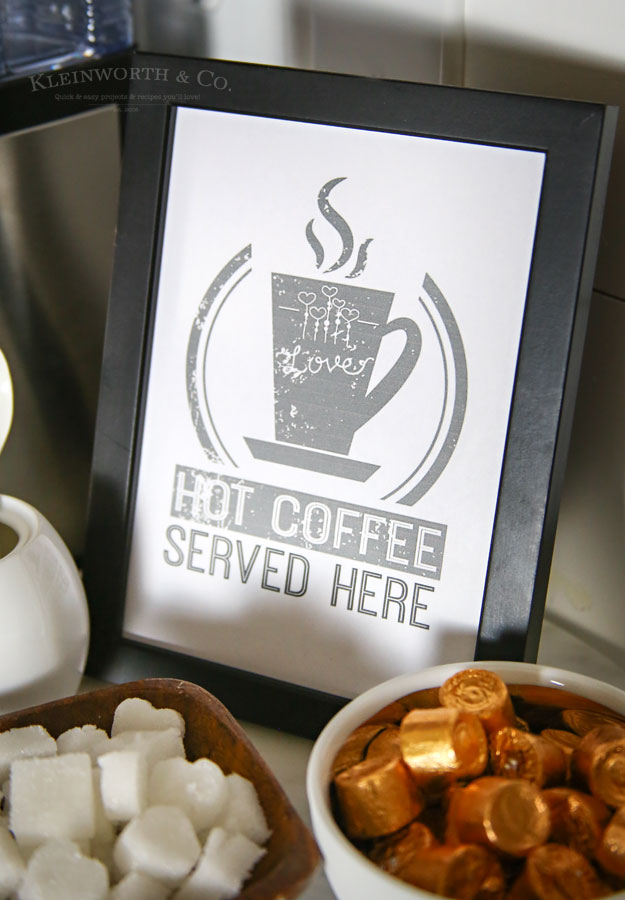 Hot Coffee Free Printable Coffee Station Sign