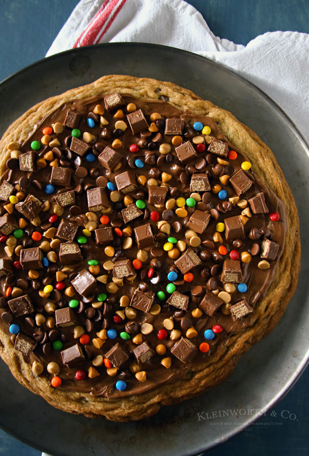 Loaded Chocolate Chip Cookie Pizza