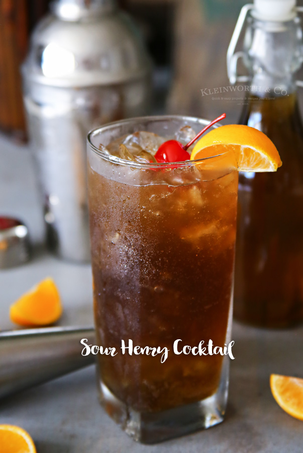 Sour Henry Cocktail Recipe