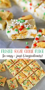 Frosted Sugar Cookie Fudge