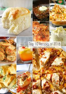 Top 10 Recipes for 2016