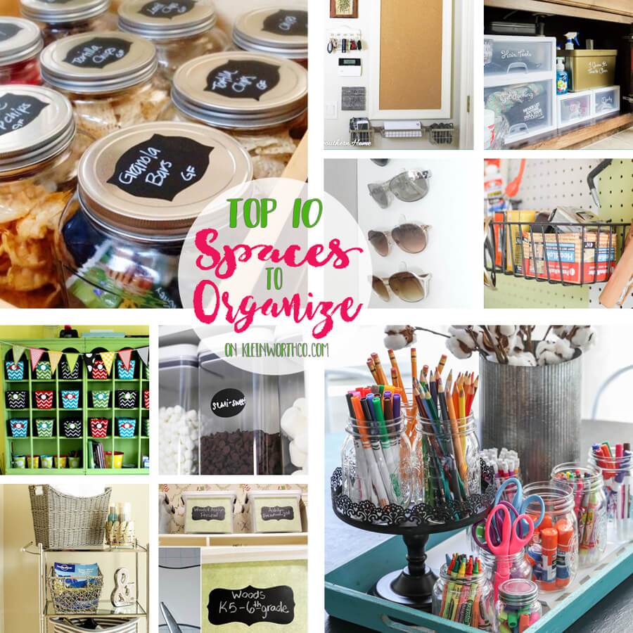 Top 10 Spaces to Organize
