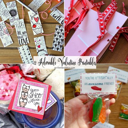 12 Adorable Valentine Printables
