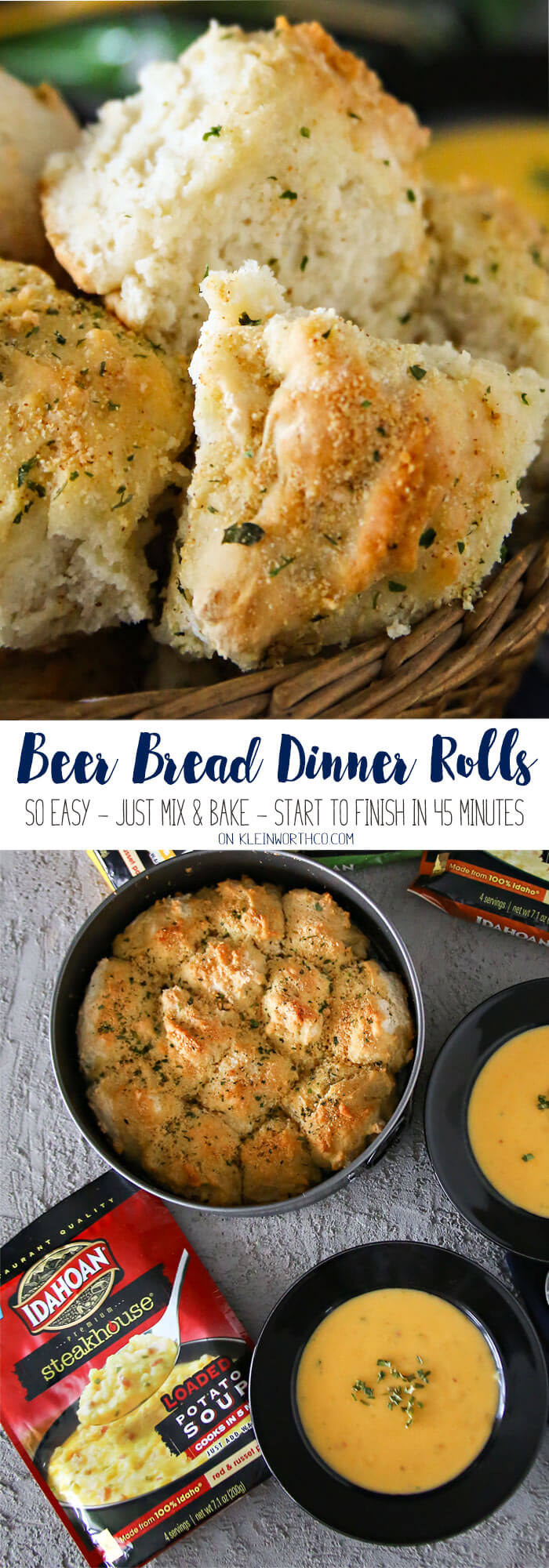 Beer Bread Dinner Rolls