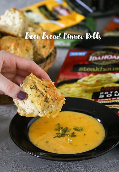 Beer Bread Dinner Rolls