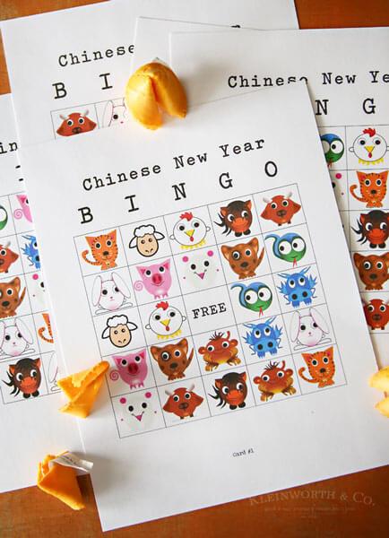 Chinese New Year Bingo Printable