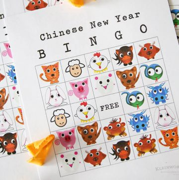 Chinese New Year Bingo Printable