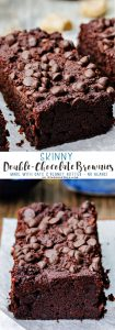 Skinny Double Chocolate Brownies