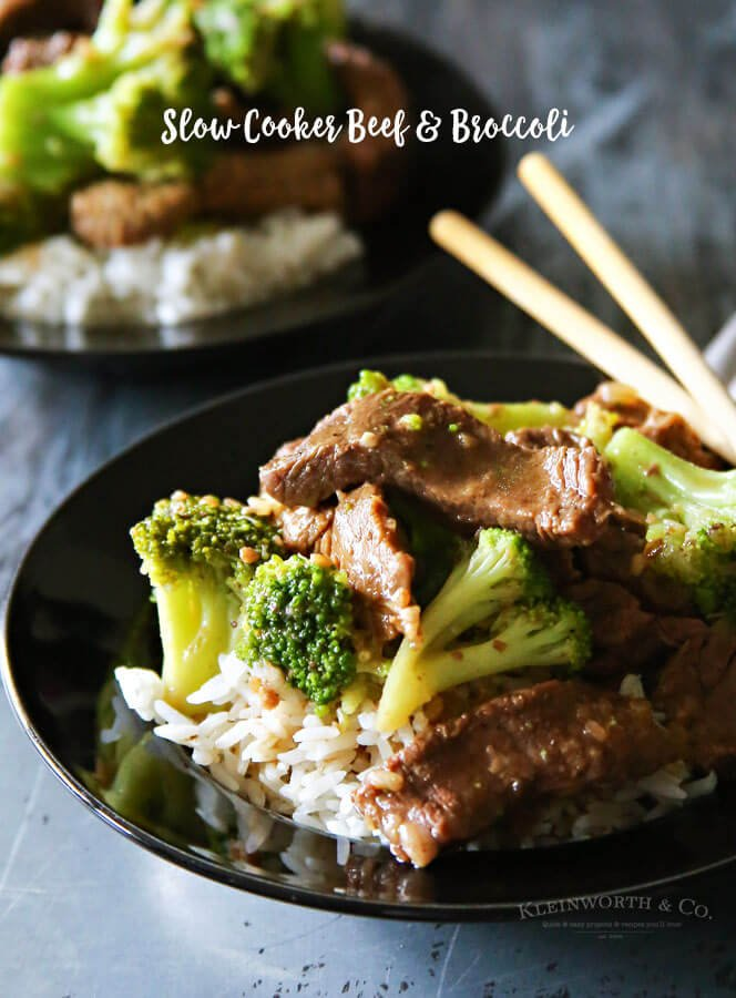 Slow Cooker Beef & Broccoli