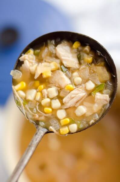 Spicy Turkey & Sweet Corn Soup