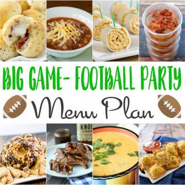Big Game Football Party Menu