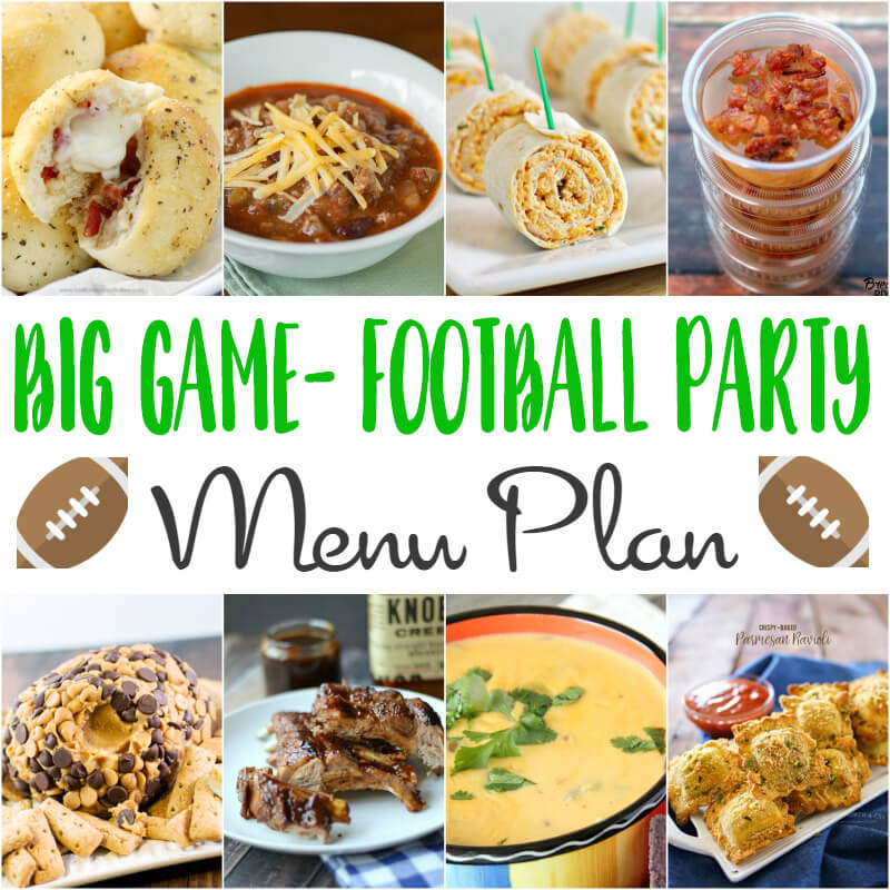 Big Game Football Party Menu