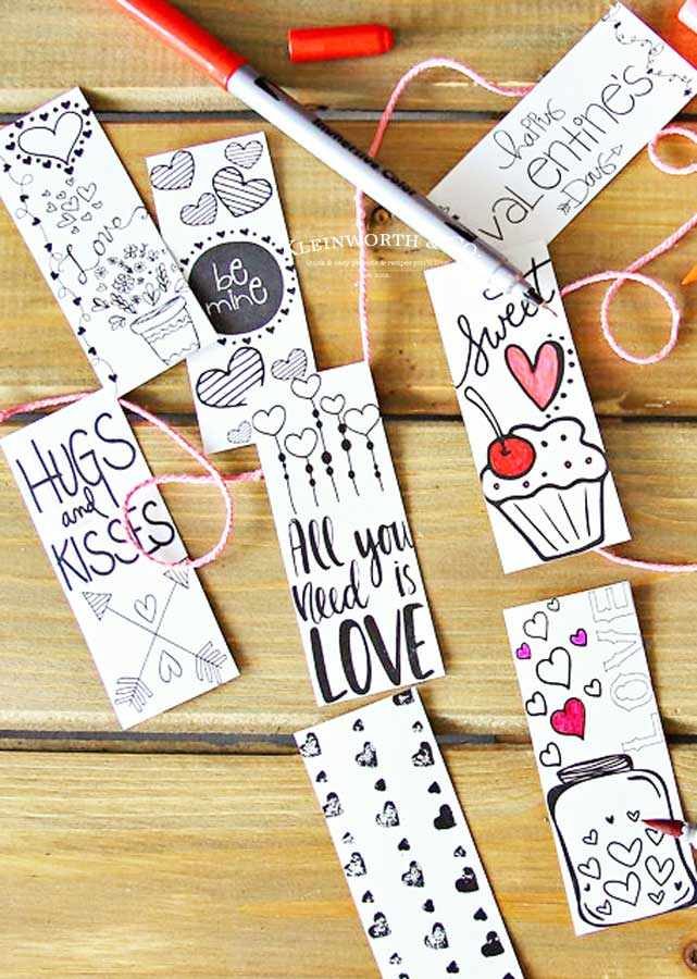 Super cute printable valentines