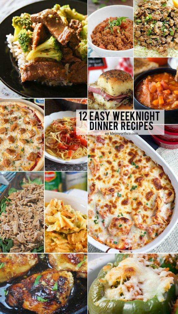 12 Easy Weeknight Dinner Recipes