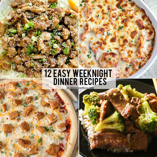 12 Easy Weeknight Dinner Recipes