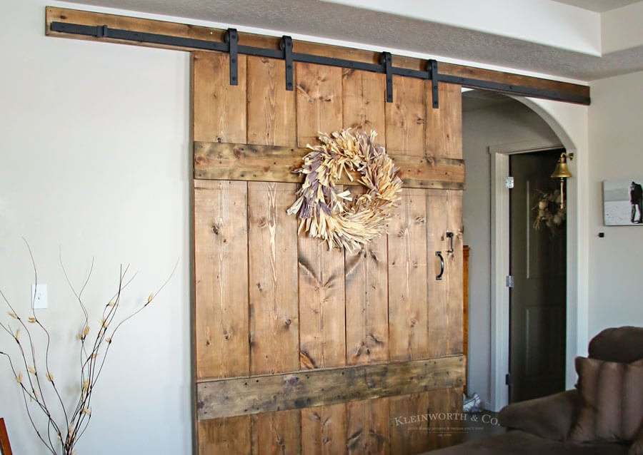 Wide Rustic Barn Door Kleinworth Co