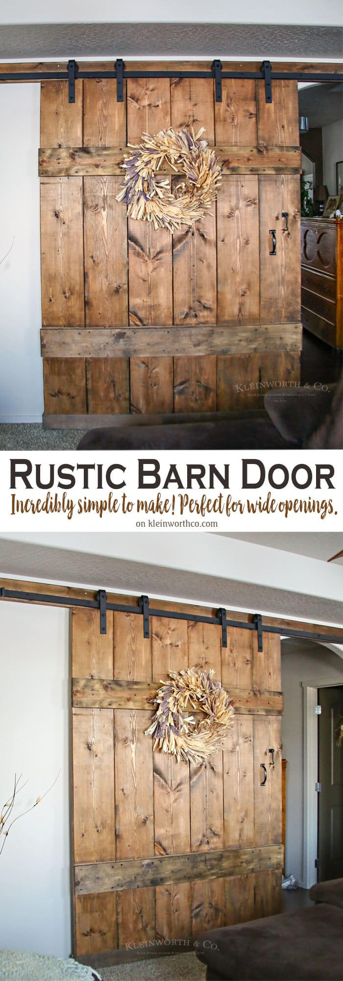 Wide Rustic Barn Door Kleinworth Amp Co