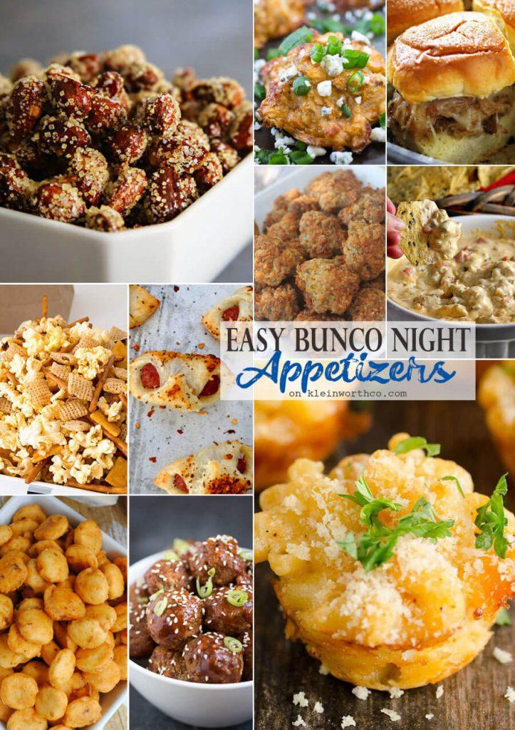 Easy Bunco Night Appetizers