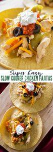 Easy Slow Cooker Chicken Fajitas