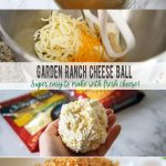 Garden Ranch Cheese Ball with Fresh cheese
