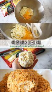 Garden Ranch Cheese Ball with Fresh cheese