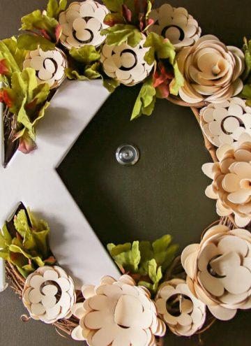 Paper Flower Wreath Cricut Tutorial