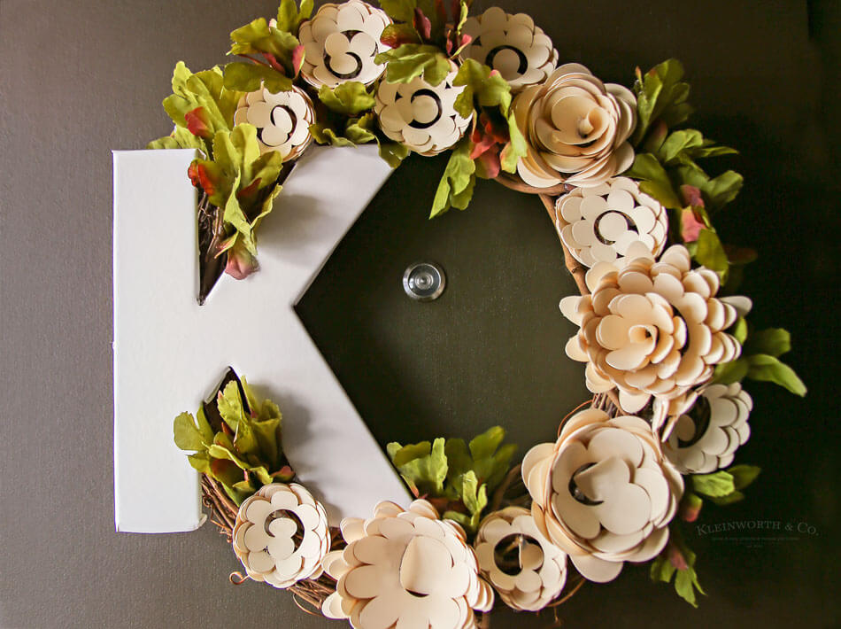 Paper Flower Wreath Cricut Tutorial Kleinworth Co