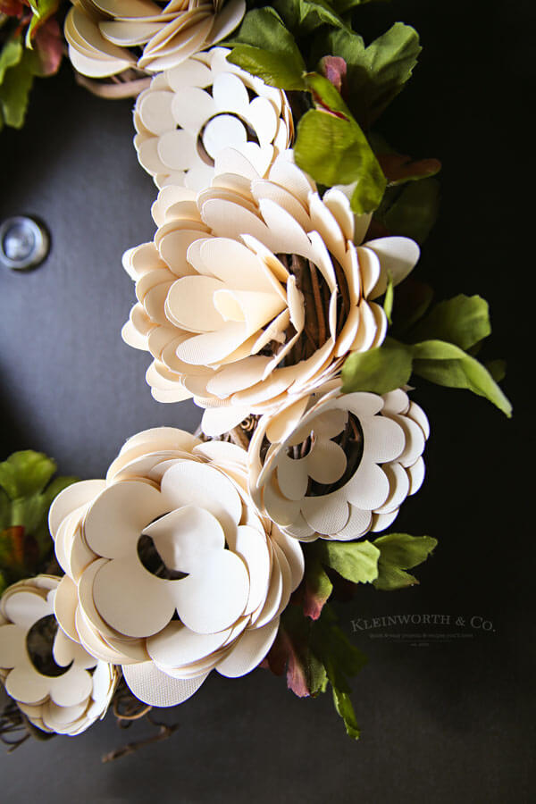 Paper Flower Wreath Cricut Tutorial Kleinworth Amp Co