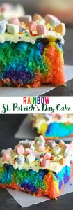 Rainbow St. Patrick's Day Cake