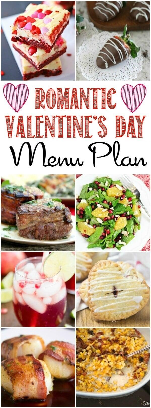 Romantic Valentines Day Menu Plan