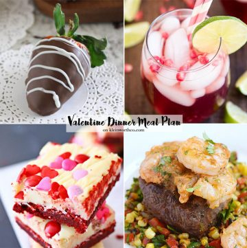 Romantic Valentines Day Menu Plan