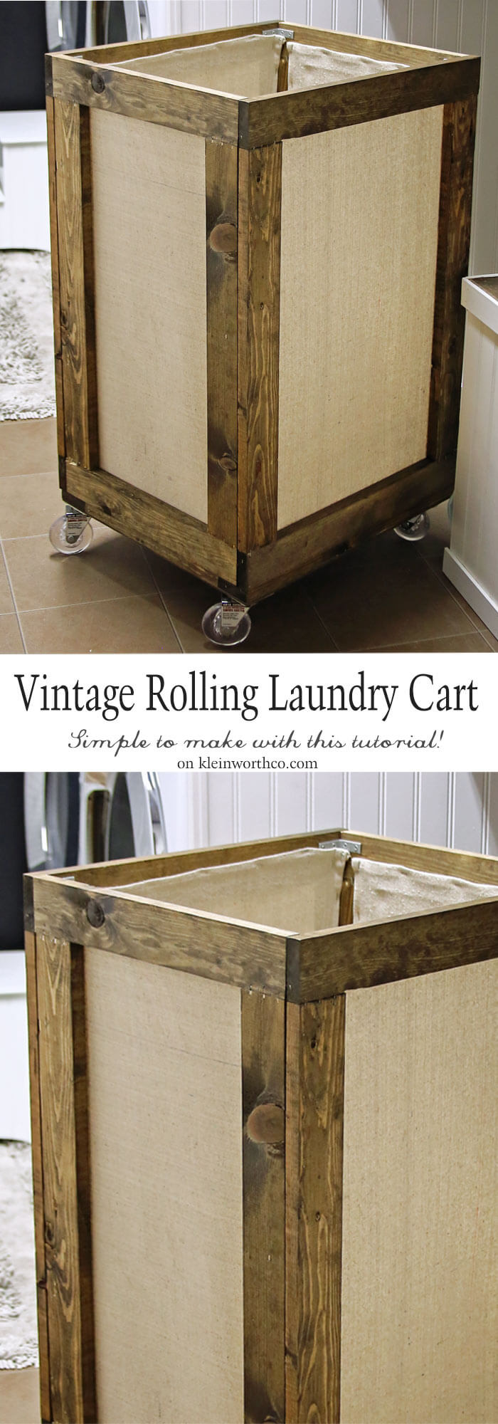 Vintage Rolling Laundry Cart Kleinworth Amp Co
