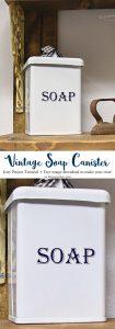 Vintage Soap Canister Cricut Tutorial
