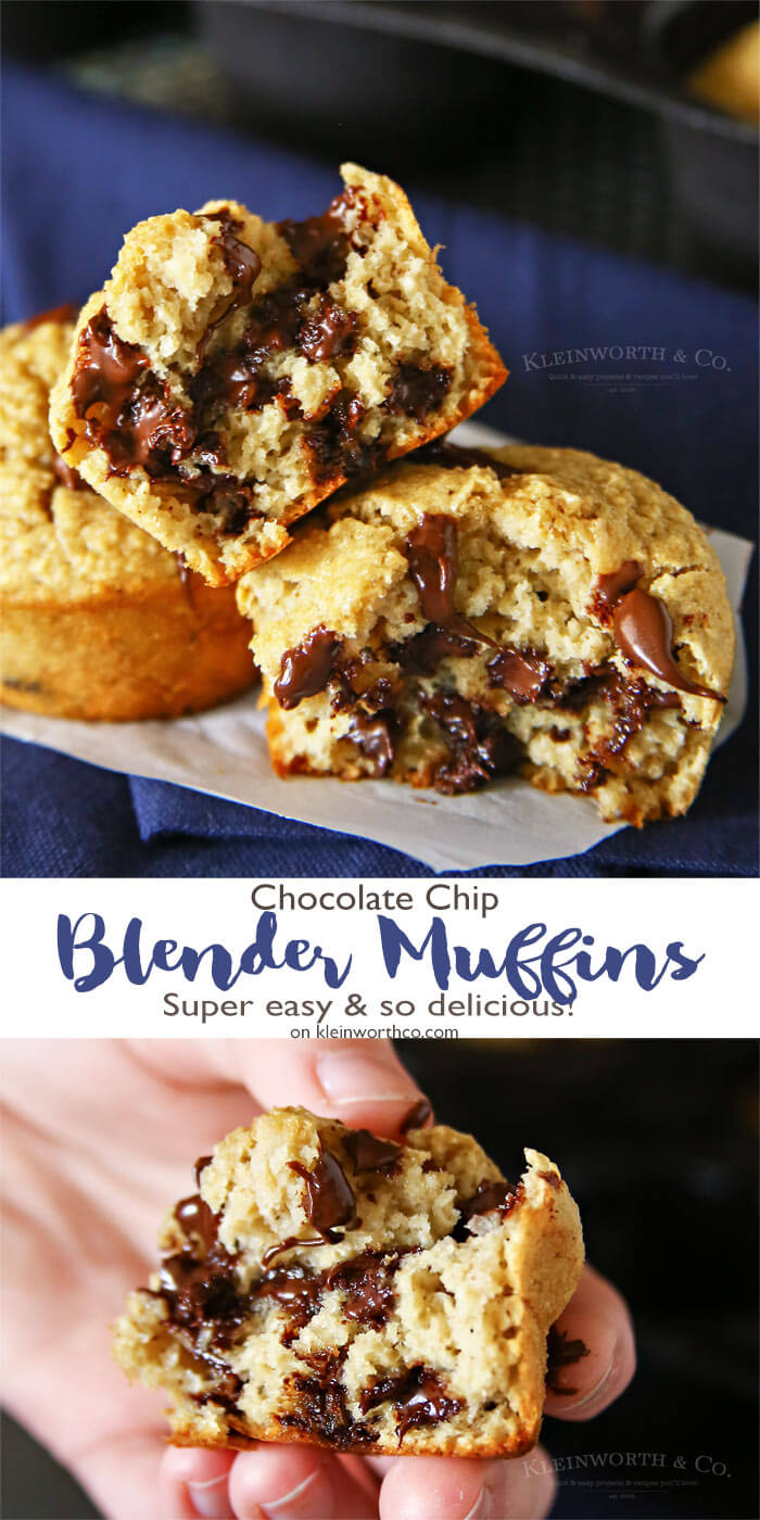 Chocolate Chip Blender Muffins