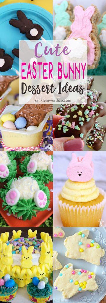 Cute Easter Bunny Dessert Ideas