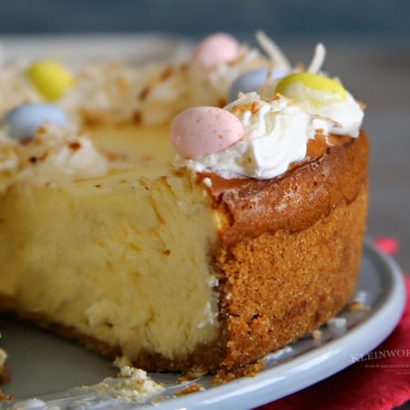 Easter Egg Coconut Cheesecake