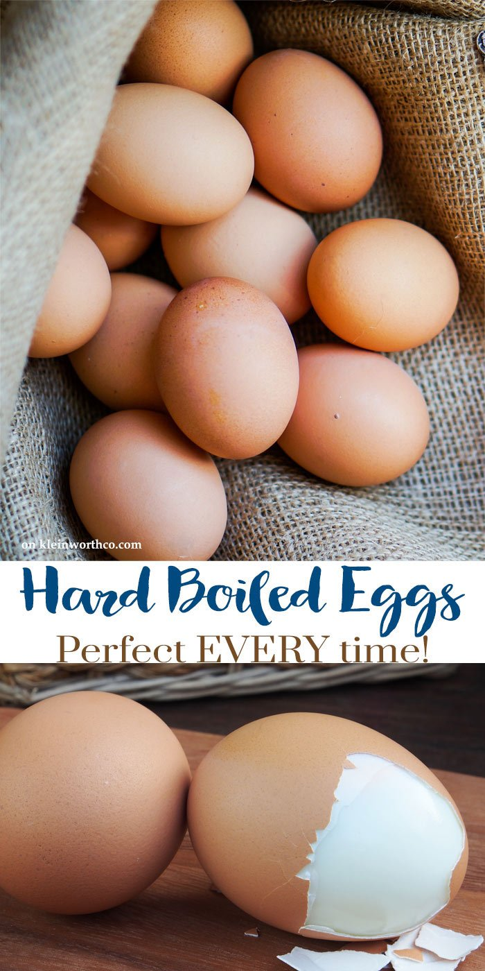 Hard Boiled Eggs - Perfect Every Time